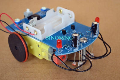 Smart Robot Car Kits Tracking Car Photosensitive soldering exercise Kits SNP-6