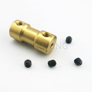 Brass Flexible Shaft Coupling Motor Rigid Coupler 20mm for Hobby Hand Drill Tool 2/2.3/3/3.175/4mm to 2/3/3.175/4/5/6mm