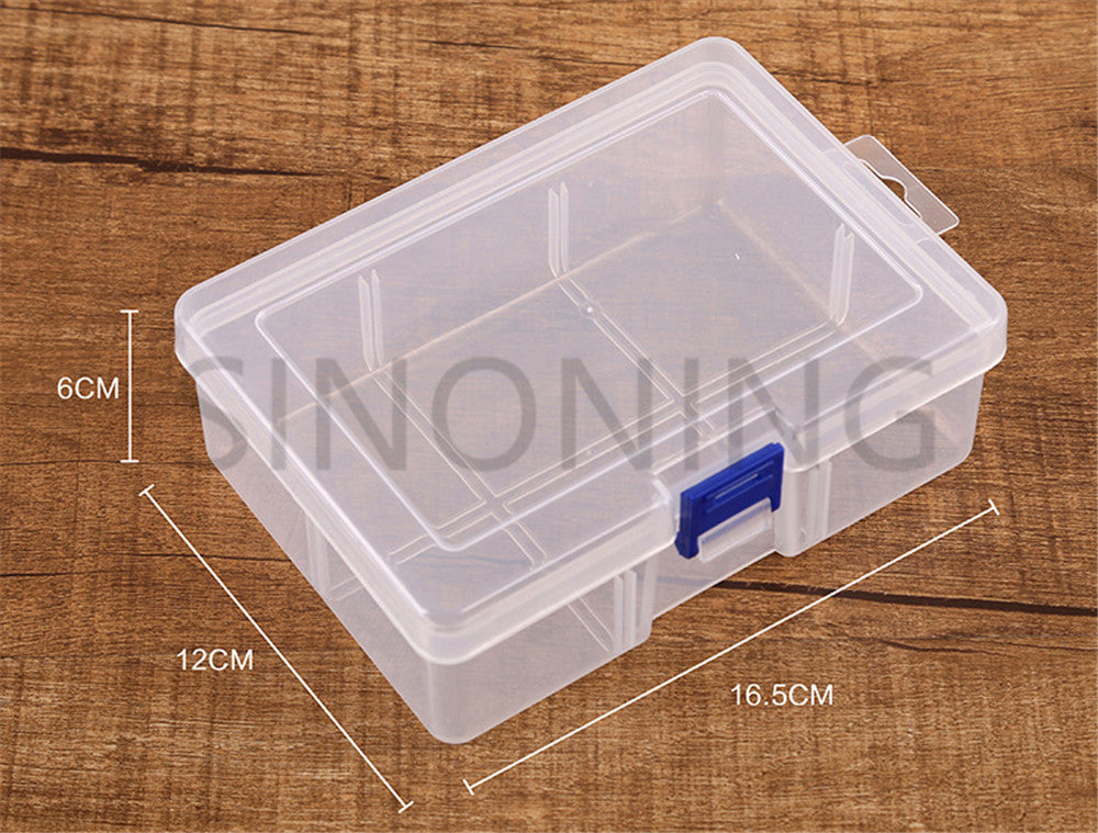 Locking gridless PP empty box transparent plastic box tool packaging storage