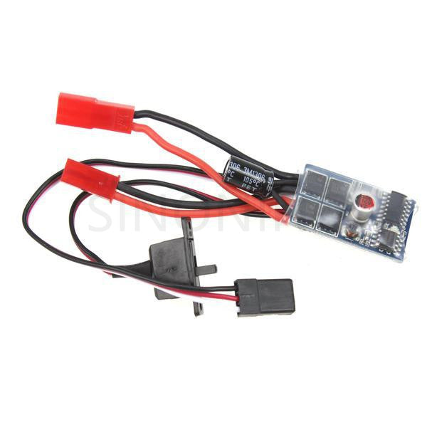 RC ESC 10A Brush Motor Speed Controller w/ Brake for 1/16-24 RC Car Boat Tank