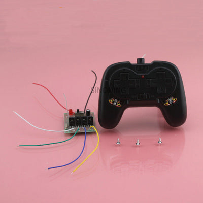 2.4G 4CH remote control and receiver circuit board for diy car tank airplane 50 meter 5A current SNRM17