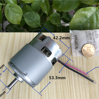 736-8017F DC Micromotor Garden Power Tools Round Iron Shell with Cooling Fan Motor 12V