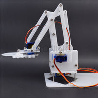 4 DOF Manipulator DIY assembling acrylic Mechanical Arm Clamp Claw arduino learning Kit