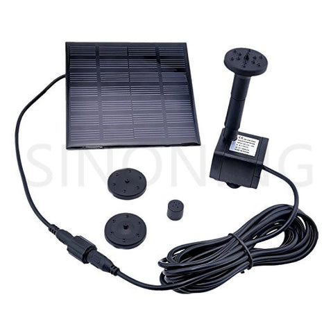 1.2W Solar Pump Panel Power Water Pump Kit For Submersible Fountain Pond