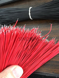 100pcs 7/1.05MM  GAUGE WIRE RED or black 20cm tin plating STRANDED COPPER Electrical Wire Line PCB DIY TOY