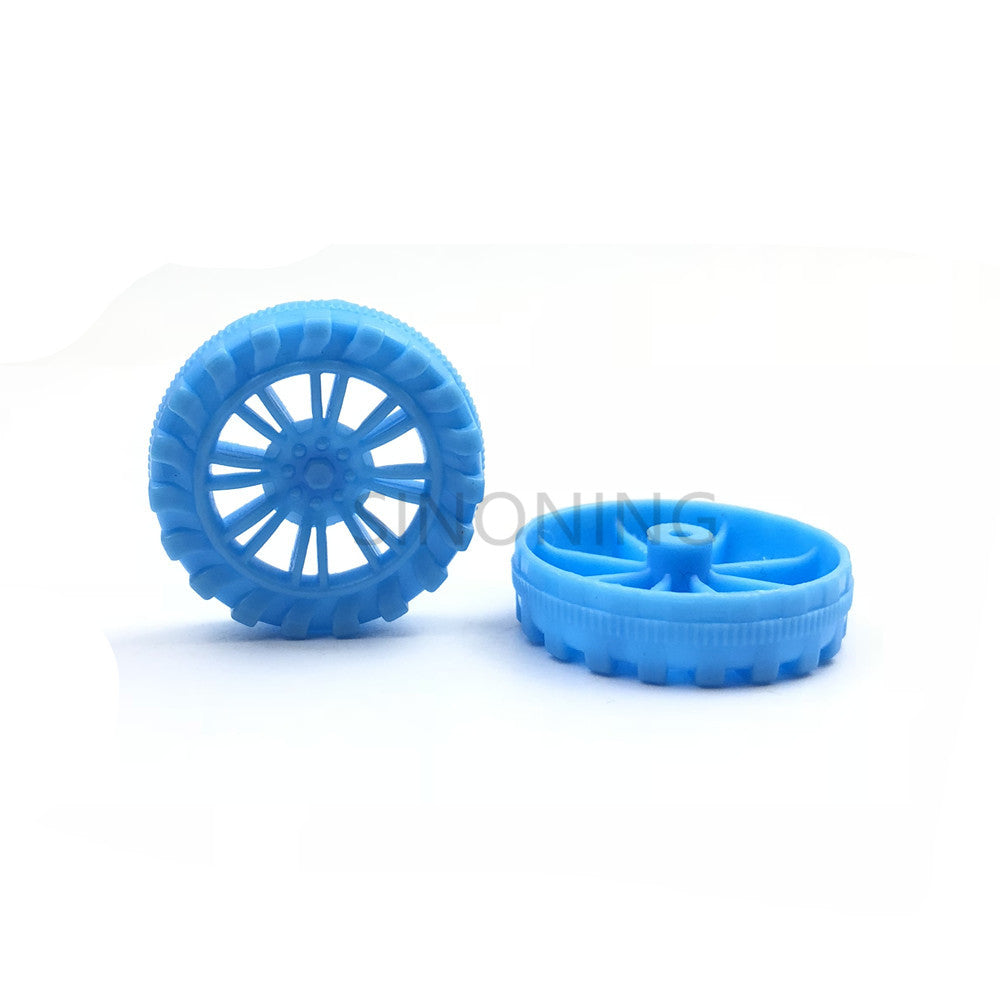 100 PCS Blue Green plastic wheel Plastic wheel Toy wheel Technology building block parts