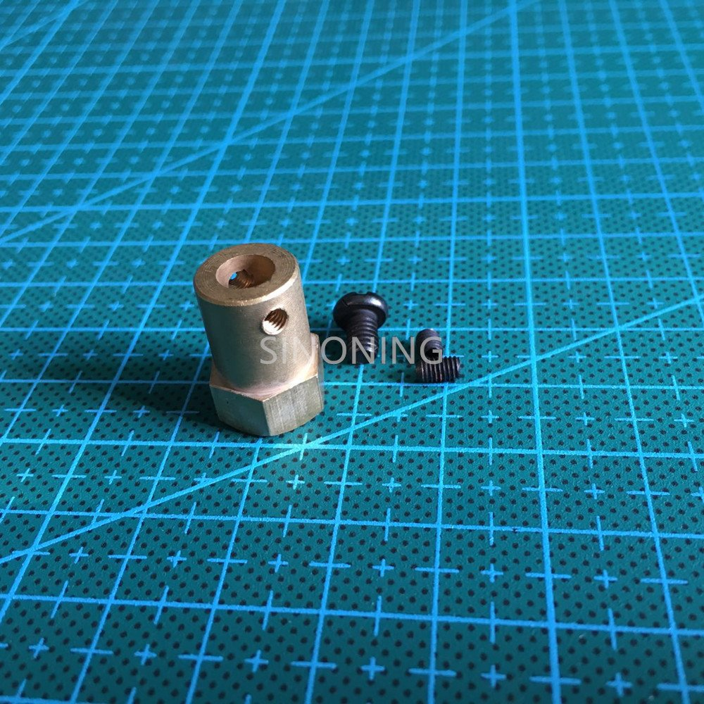 Hex coupling copper  for 6MM D shaft axis  hexagon SN37