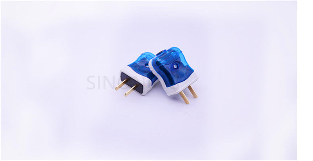 Fixed two-pole plug copper foot anti-fall easy wiring plug