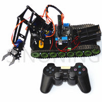 Remote control robot tank arm fire arduino ps2 mearm acrylic SNAR11