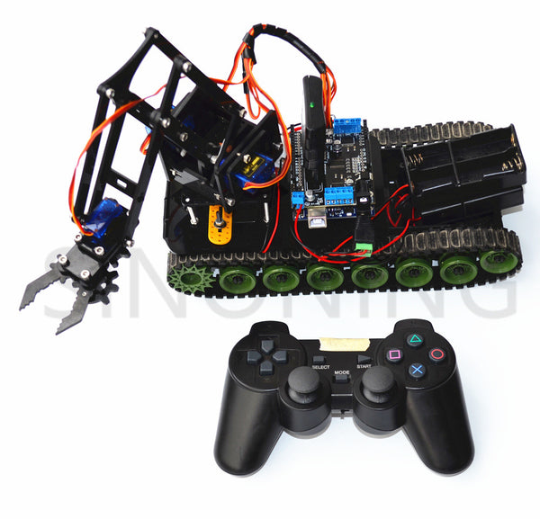 Remote Control Robot Tank Arm Fire Arduino Ps2 Mearm