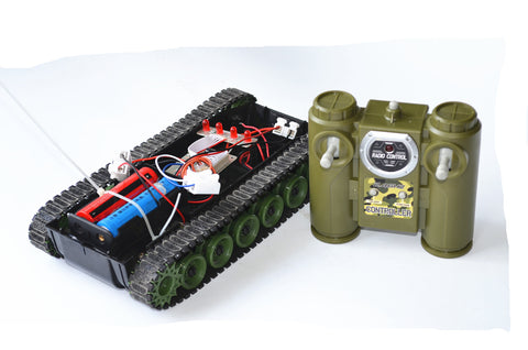 2.4G remote control DIY tank kit set 18650 robot caterpillar