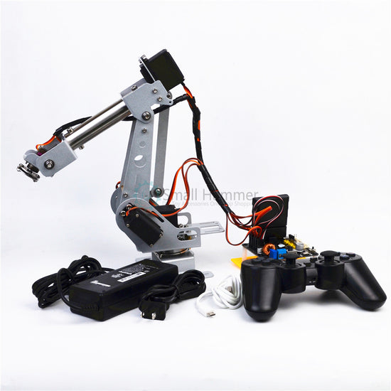 arduino remote control PS2 stainless steel robotic arm 6 DOF