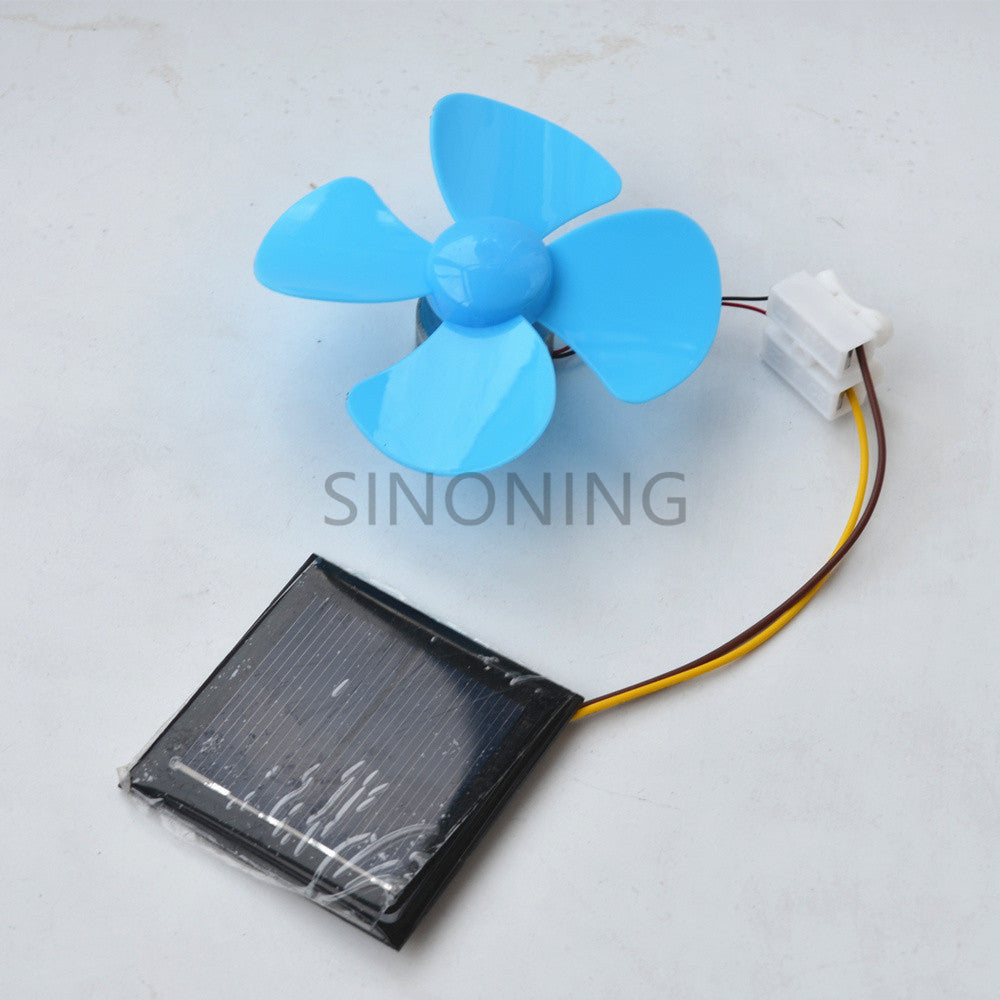 Solar test suite DIY solar fan small production technology