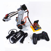 arduino remote control PS2 stainless steel robotic arm 6 DOF robot SNAM4900