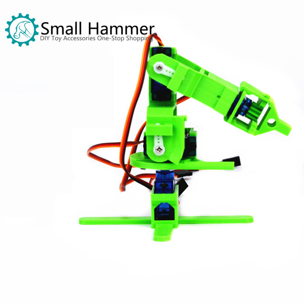 SNAM5900 3D printing four-degree-of-freedom robot arm DIY robot assembling  sg90
