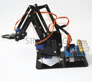 Arduino 4dof Acrylic Robotic Mechanical Arm Economic Kit SNAM1900
