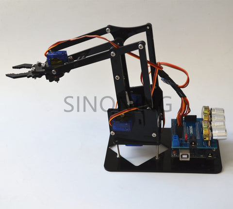 Arduino 4dof Acrylic Robotic Mechanical Arm Economic Kit