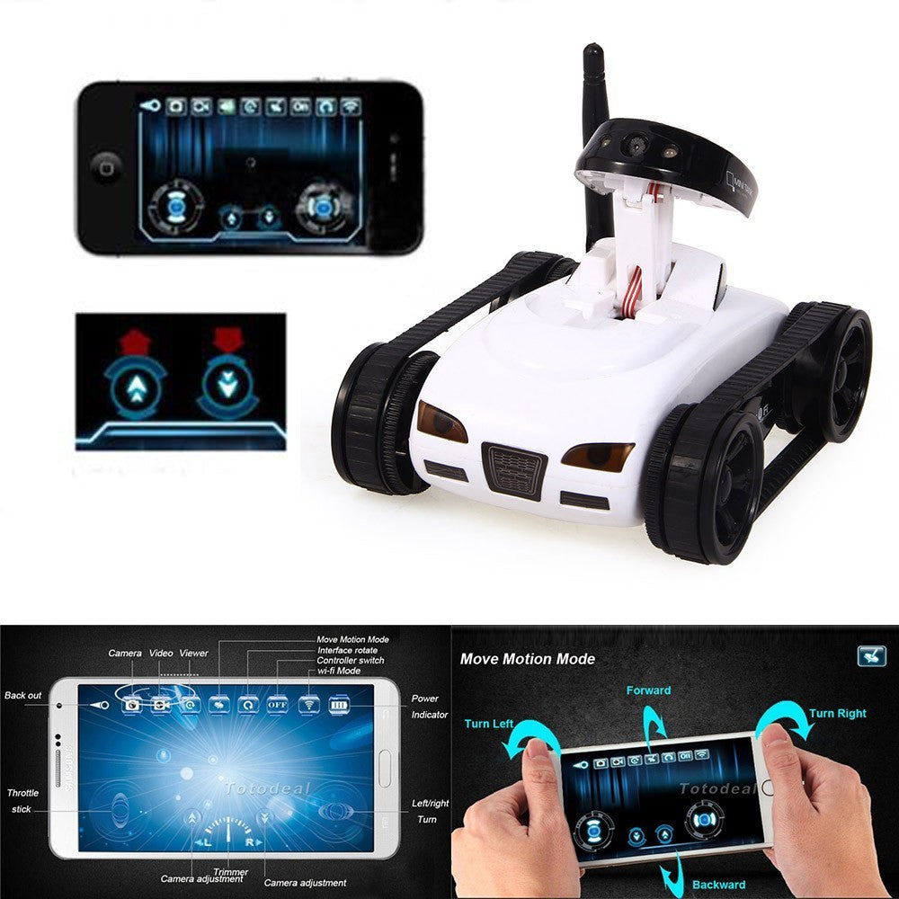 WiFi Mini RC Camera Tank Car ISpy with Video 0 3MP Camera 777-270 Remote  Control Robot with 4CH Suppots By Iphone Android App