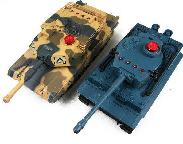 HuanQi Infrared Remote Control Track Battle rc Tank 27MHz Sound Of Cannon And Emmagee remote control tank With Light