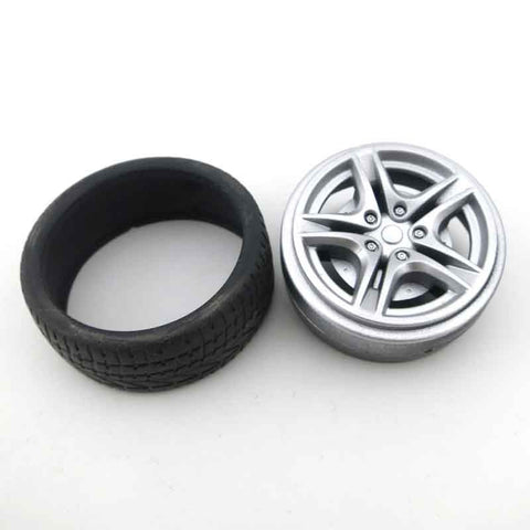 100pcs 40mm/48mm wholesale Rubber Tire 48mm Wheel Toy Car accessories Shaft 2.9mm 1:10 emulation suit for 3mm axle