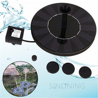1.4W 7V High Power Solar Floating Fountain Water Pump Solar Panel Plants Watering Garden Fountain Pump
