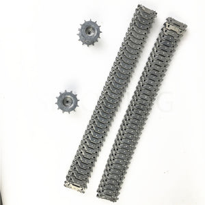 A pair 1:16 metal tank track M41A3 M41 metal track suit 3839 for remote control tank henglong