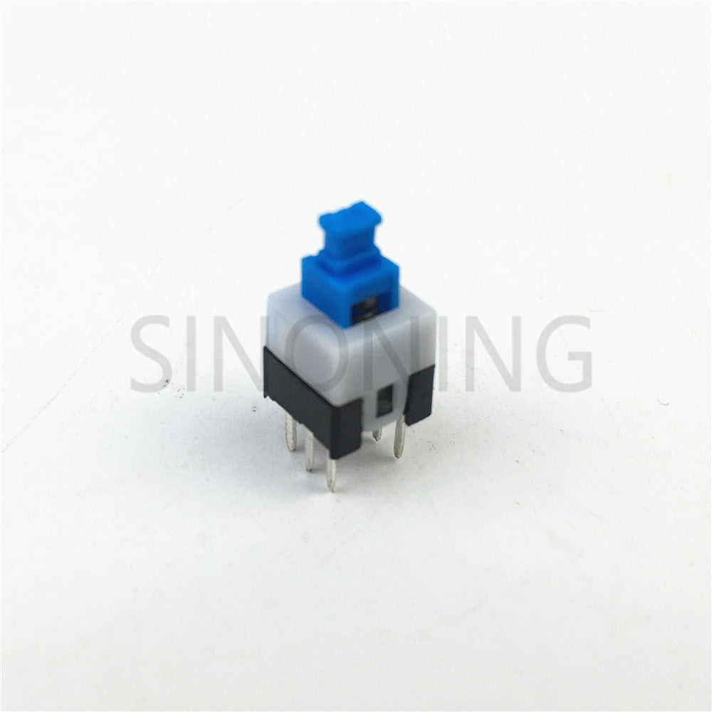 7MM * 7MM self-locking switch / key switch / blue white black button switch six feet