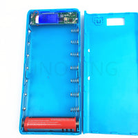 Digital display 1-8 18650 battery box mobile power bank kit DIY