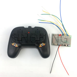 2.4G 8CH black remote control with receiver board DIY toy boat tank car 4-6v
