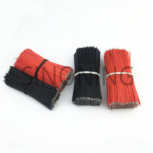 10pcs/Lot Tin-Plated Breadboard Jumper Cable Wire 10cm 22AWG For Arduino Flexible Two Ends PVC Wire Electronic