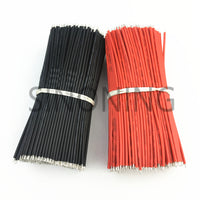 10pcs/Lot Tin-Plated Breadboard Jumper Cable Wire 12cm 26AWG For Arduino Flexible Two Ends PVC Wire Electronic