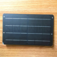 Single crystal silicon solar panel 5V6V1A6W mobile phone charging travel outdoor portable charging bike