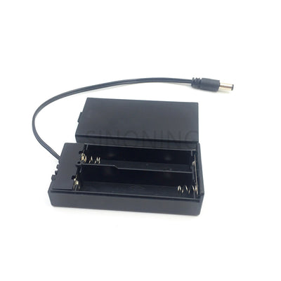 18650 two battery box 2 section charging seat with thick line with cover switch 7.4v with DC head