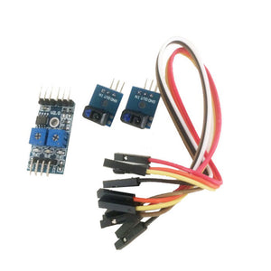2-way tracking sensor module black and white line photoelectric detection TCRT5000