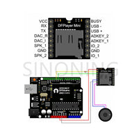 Mini MP3 Player Module TF Card U Disk Mini MP3 Player Audio Voice Module Board For Arduino DF Play