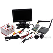 5KM FPV video transmission with 7-inch LCD display TS3206+RC320 and hd camera DIY kit
