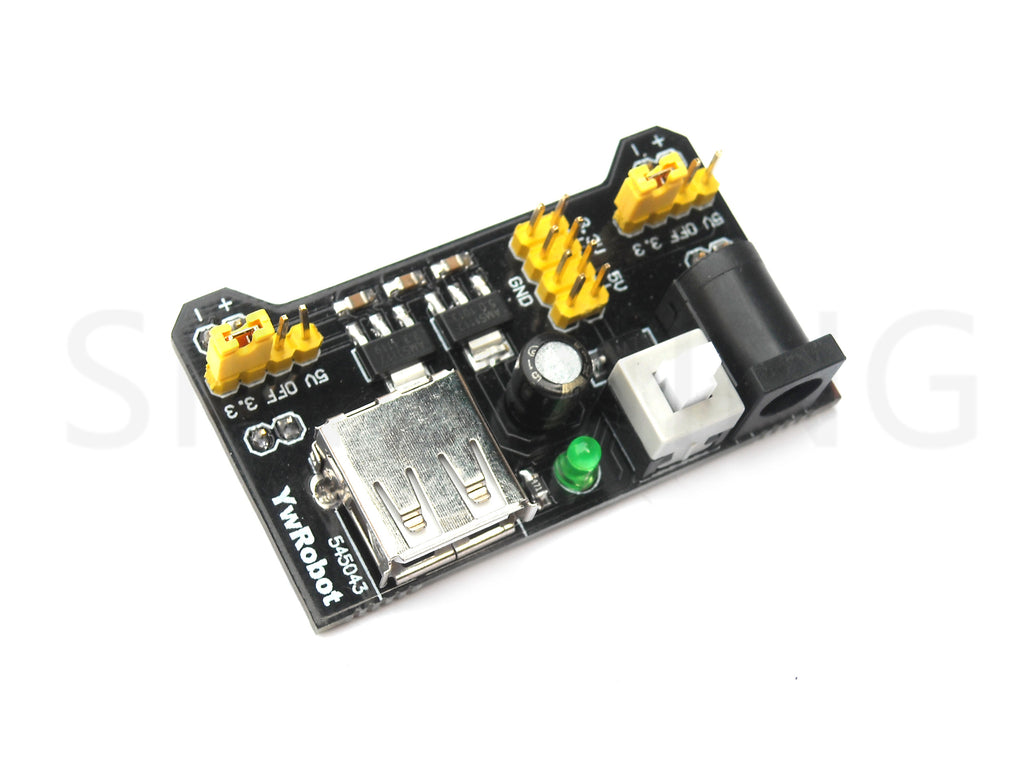 breadboard power module compatible with 5V, 3.3V USB DC