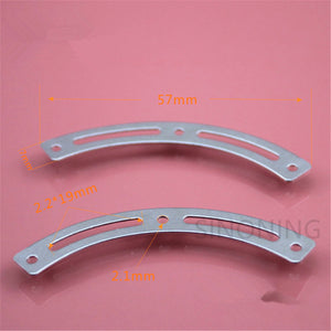 Flat arc iron piece technology building block parts double groove flat arc piece