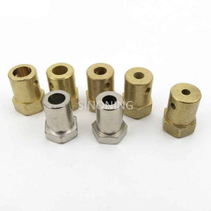 Hex coupling copper for 2MM 3MM 4MM 5MM 6MM 7MM 8MM D shaft axis hexagon