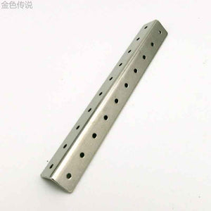 holes of small L shaped angle iron iron tablets creel frame metal body parts Diy