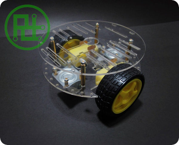 2WD Smart Robot Car 3 Layer Acrylic Acrylic Chassis Kits with Speed Encoder