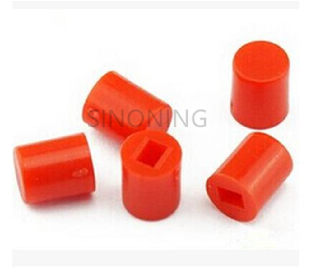 100PCS 6X7MM round red button cap Suitable for 8.5X8.5/8X8 series self-locking switch hat