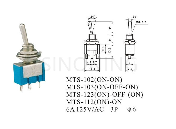 toggle switch mts  3a