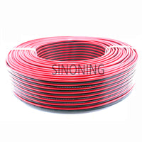 1m Pure copper red black wire two core electric cable two color parallel