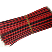 10pcs Tin-Plated Breadboard Jumper Cable Wire 15cm 24AWG Arduino 2Pin black red Wire Electronic