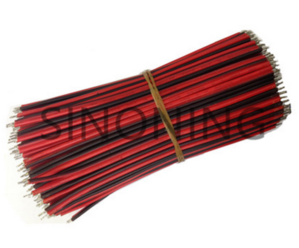 1pcs 10cm 2 pin 22AWG wire cable, 100mm LED DIY strip cable red black color wire