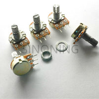 Single DIY potentiometer B10K three feet 10K handle length 15mm horizontal WH148