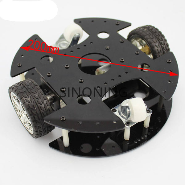 2wd Black Acrylic Robot Car Chassis 2 Layer Rugged 37b280