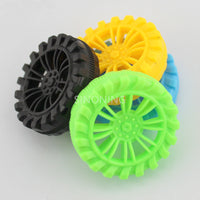 10pcs 2*35mm plastic toy wheel DIY for 2mm shaft model