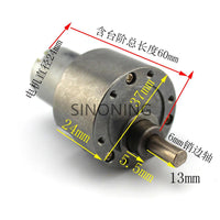 37B280 DC gear motor 37mm metal gear box long axis